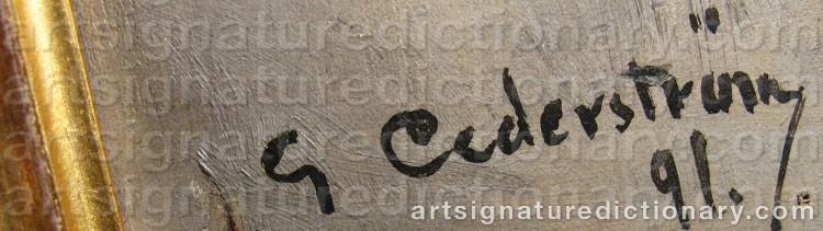 Signature by Gustaf CEDERSTRÖM