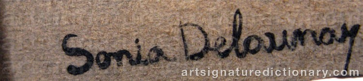 Forged signature of Sonia DELAUNAY