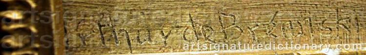 Signature by Arthur De BREANSKI