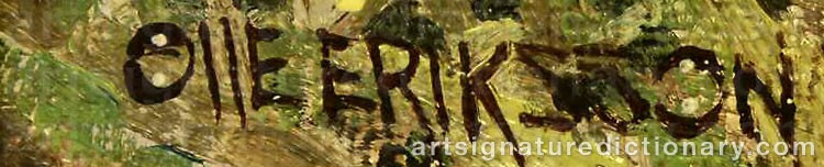 Signature by Olle 'Droppen' ERIKSSON