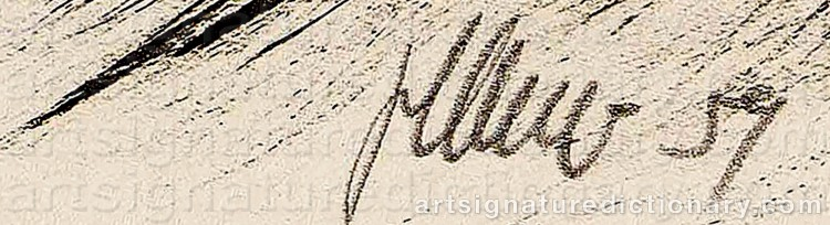 signatures and monograms find the artist auction price: