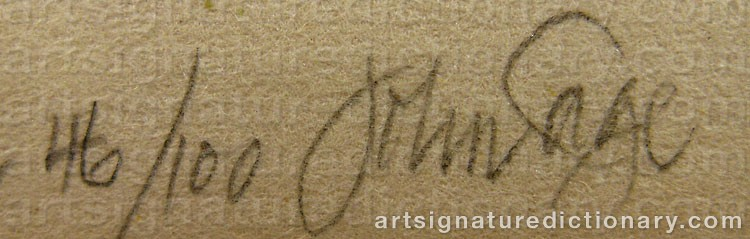 Signature by John CAGE