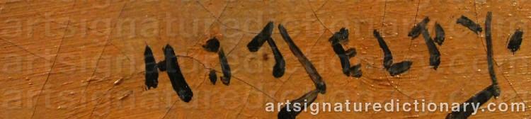 Signature by Jacques Henri DELPY