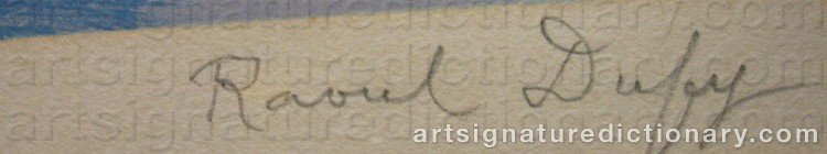 Signature by Raoul DUFY