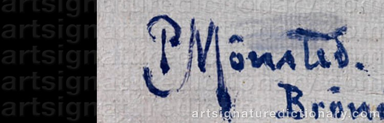 Signature by Peder MÖNSTED