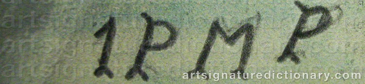 Signature by Primus Mortimer PETTERSSON