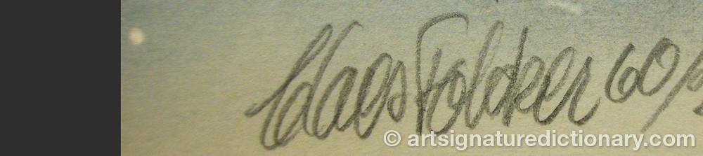 Signature by Claes FOLCKER