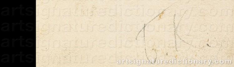 Signature by Boris Mikhailovich KUSTODIEV
