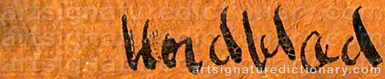 Signature by Gösta NORDBLAD