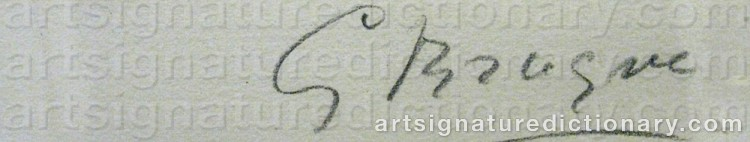 Signature by Georges BRAQUE