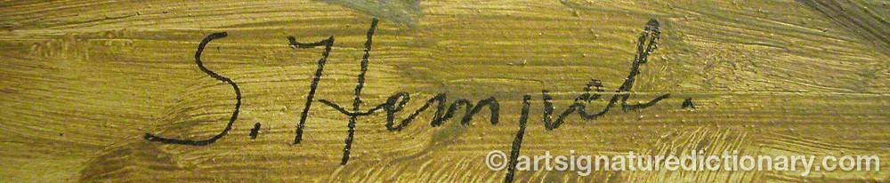 Signature by Sven Hilding HEMPEL