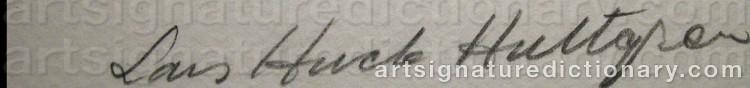 Signature by Lars Huck 'Huck' HULTGREN