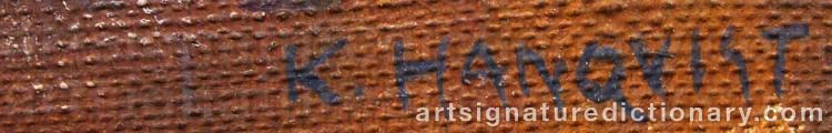 Signature by Knut HANQVIST