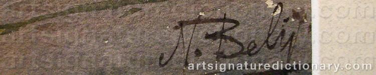Signature by Nikolai BELIJ