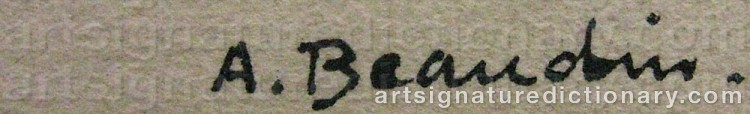 Signature by Andre BEAUDIN