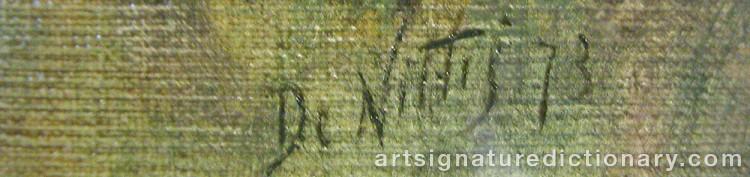 Signature by Giuseppe De NITTIS