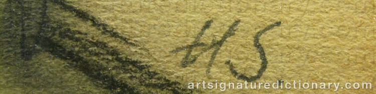 Forged signature of Helene SCHJERFBECK
