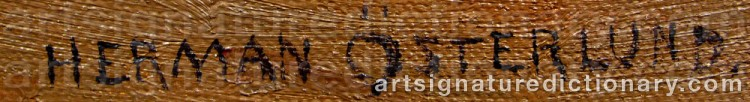 Signature by Herman ÖSTERLUND
