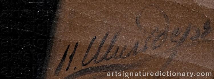 Signature by Nikolai Gustavovich SCHILDER