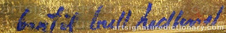 Signature by Bertil Bull HEDLUND
