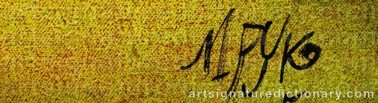 Signature by Madelaine 'M Pyk' PYK