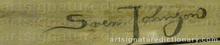 Signature by Sven JOHNSON