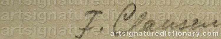 Signature by Franciska CLAUSEN