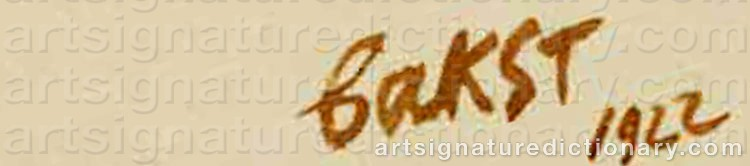 Signature by Léon BAKST