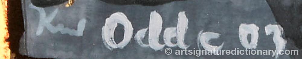 Signature by Knud ODDE