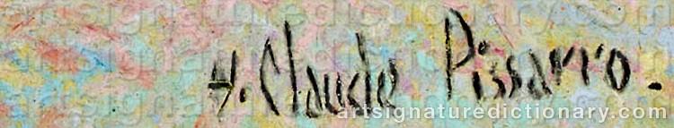 Signature by Hughes Claude PISSARRO