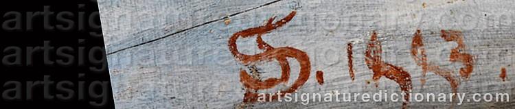 Signature by Simeon SOLOMON
