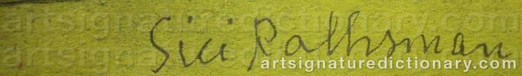 Signature by Siri RATHSMAN