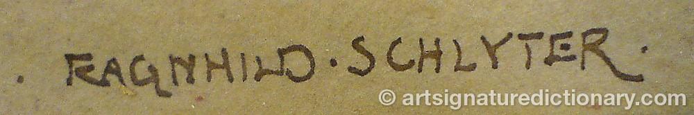 Signature by Ragnhild SCHLYTER