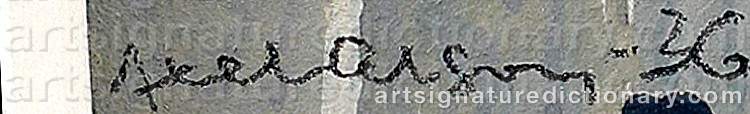 Signature by Axel OLSON
