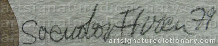Signature by Sven-Olof EHRÉN