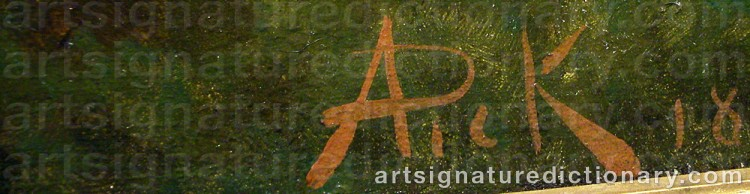 Signature by Anton PICK