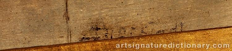 Signature by Albert BIERSTADT