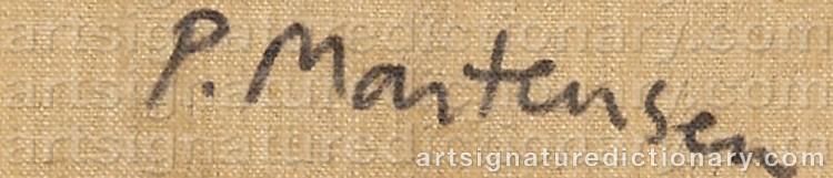 Signature by Peter MARTENSEN