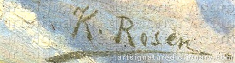 Signature by Karl Ioganovich ROSEN