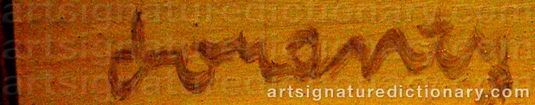Signature by Waldemar LORENTZON