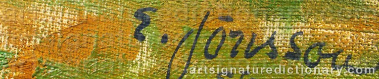 Signature by Erik JÖNSSON