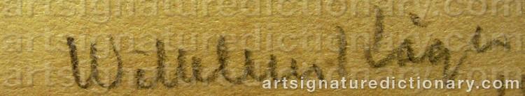 Signature by Wilhelm KÅGE