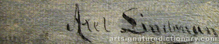 Signature by Axel LINDMAN