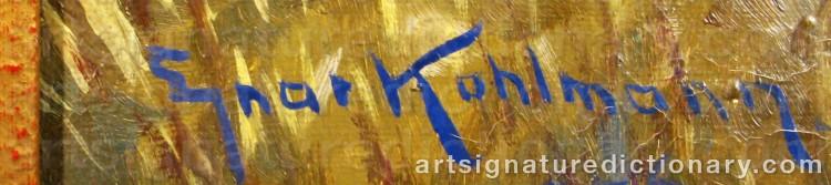 Signature by Ejnar KOHLMANN