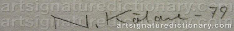 Signature by Nils KÖLARE