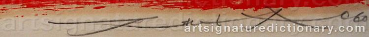 Signature by ZAO WOU-KI