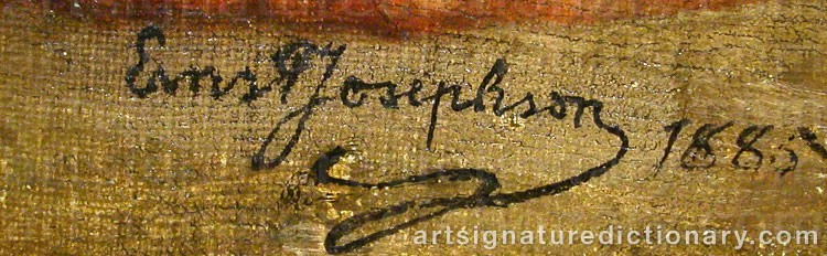 Forged signature of Ernst JOSEPHSON