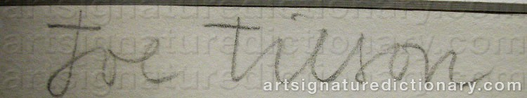 Signature by Joe TILSON