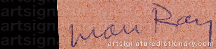 Signature by Man RAY