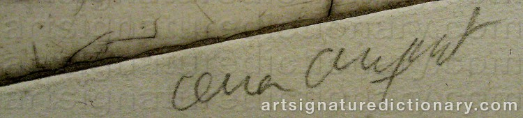 Signature by Lena CRONQVIST